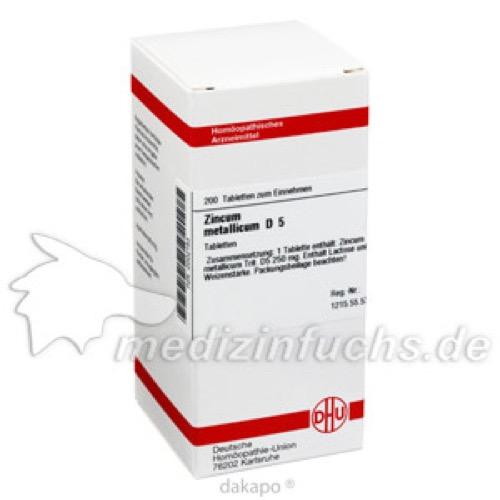 ZINCUM METALLICUM D 5, 200 ST, Dhu-Arzneimittel GmbH & Co. KG