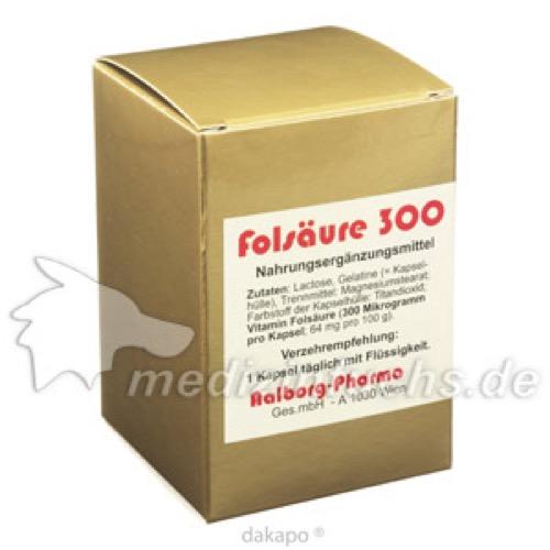 FOLSÄURE 300 \m63g Kapseln, 60 ST, Aalborg Pharma GmbH