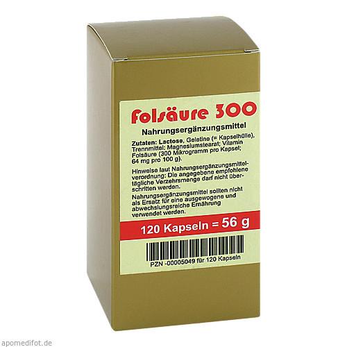 FOLSÄURE 300 ug Kapseln, 120 ST, Aalborg Pharma GmbH