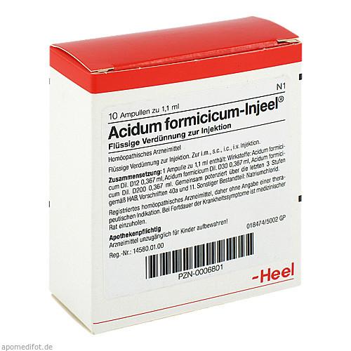 ACIDUM FORMIC INJ, 10 ST, Biologische Heilmittel Heel GmbH