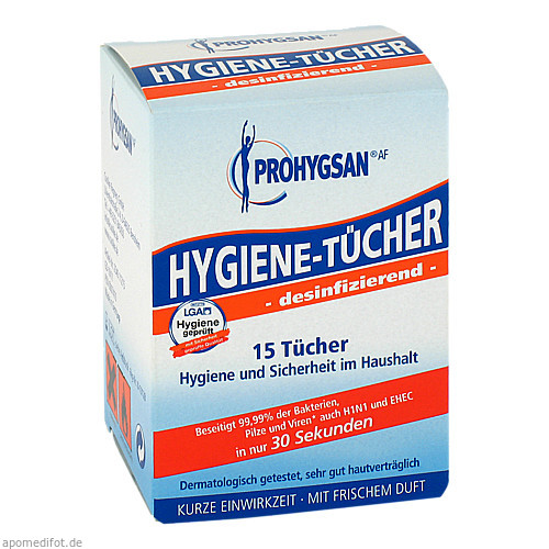 Prohygsan Hygienetücher AF-desinfizierend-, 15 ST, Coolike-Regnery GmbH