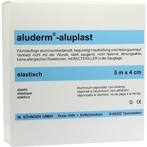 Aluderm Aluplast Wundverb Pflast elast 5mx4cm, 1 ST, W.Söhngen GmbH