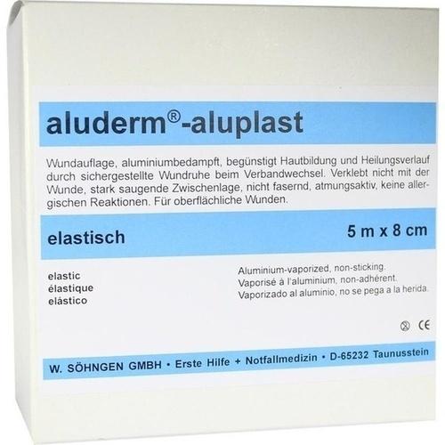 Aluderm Aluplast Wundverb Pflast elast 5mx8cm, 1 ST, W.Söhngen GmbH