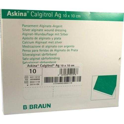 Askina Calgitrol Ag 10x10cm, 10 ST, B. Braun Melsungen AG