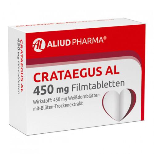 Crataegus AL 450mg Filmtabletten, 100 ST, Aliud Pharma GmbH
