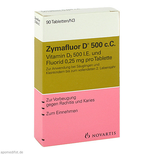 Zymafluor D 500 c.C., 90 ST, MEDA Pharma GmbH & Co.KG