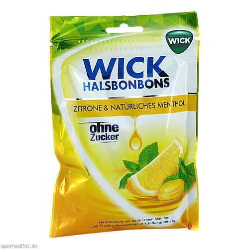 WICK Zitrone & Natürliches Menthol ohne Zucker, 72 G, Dallmann's Pharma Candy GmbH