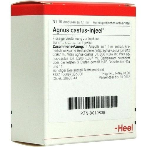 AGNUS CASTUS INJ, 10 ST, Biologische Heilmittel Heel GmbH