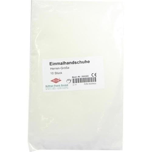 Einmal Handschuhe Untersuchung Herren, 10 ST, Büttner-Frank GmbH