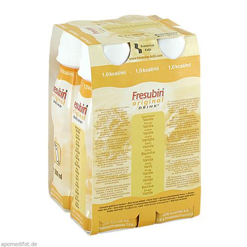 Fresubin original DRINK Vanille Trinkflasche, 4X200 ML, Fresenius Kabi Deutschland GmbH
