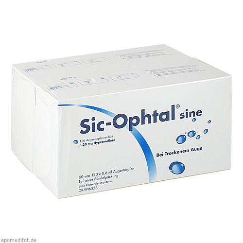Sic-Ophtal sine, 120X0.6 ML, Dr. Winzer Pharma GmbH