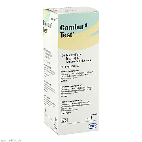Combur 9 Test, 100 ST, Roche Diagnostics Deutschland GmbH