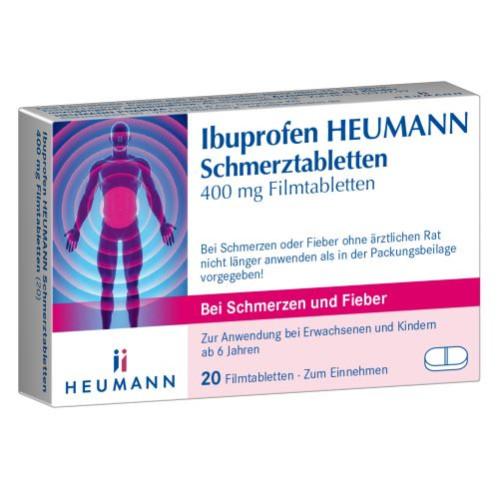 Ibuprofen Heumann Schmerztabletten 400MG FILMTABLE, 20 ST, Heumann Pharma GmbH & Co. Generica KG