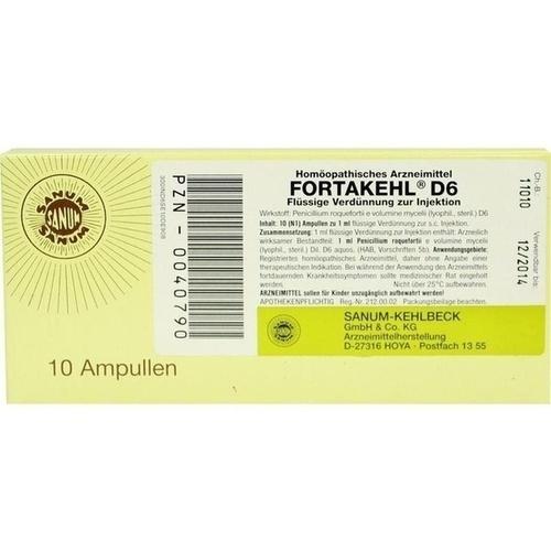 FORTAKEHL D 6 Injektion, 10X1 ML, Sanum-Kehlbeck GmbH & Co. KG