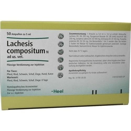 LACHESIS COMPOSITUM N ad us.vet.Ampullen, 50 ST, Biologische Heilmittel Heel GmbH