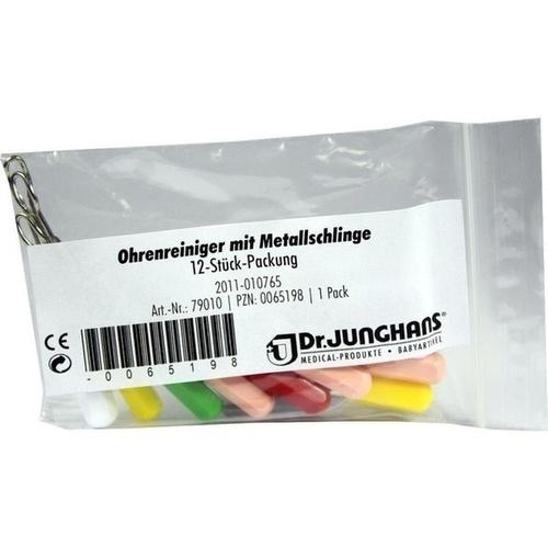 OHRENREINIGER MIT METALLSCHLINGE, 12 ST, Dr. Junghans Medical GmbH
