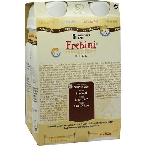 Frebini energy fibre DRINK Schokolade Trinkflasche, 4X200 ML, Fresenius Kabi Deutschland GmbH