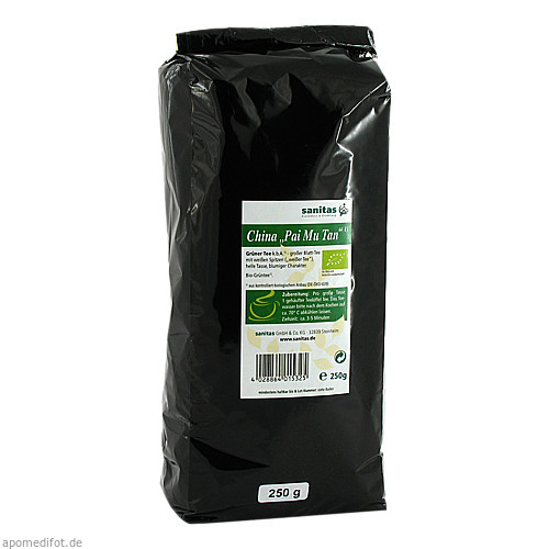 Grüner Tee China Pai Mu Tan, 250 G, Sanitas GmbH & Co. KG