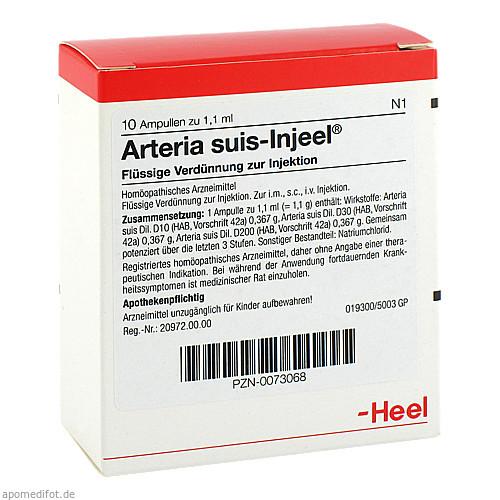 ARTERIA SUIS INJ ORG, 10 ST, Biologische Heilmittel Heel GmbH