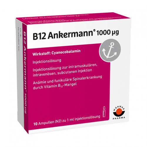 B12 ANKERMANN 1000UG, 10X1 ML, Wörwag Pharma GmbH & Co. KG