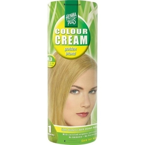 Hennaplus Colour Cream Golden Blond 8.3, 60 ML, Frenchtop Natural Care Products B.V