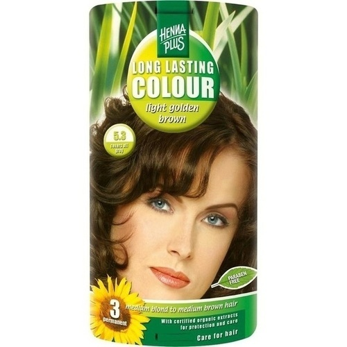 Hennaplus Long Lasting Light Golden Brown 5.3, 100 ML, Frenchtop Natural Care Products B.V