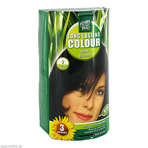 Hennaplus Long Lasting Dark Brown 3, 100 ML, Frenchtop Natural Care Products B.V