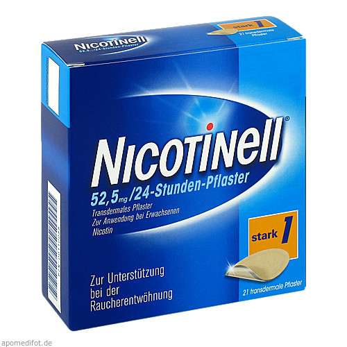 Nicotinell 21 mg / 24-Stunden-Pflaster, 21 ST, GlaxoSmithKline Consumer Healthcare GmbH & Co. KG