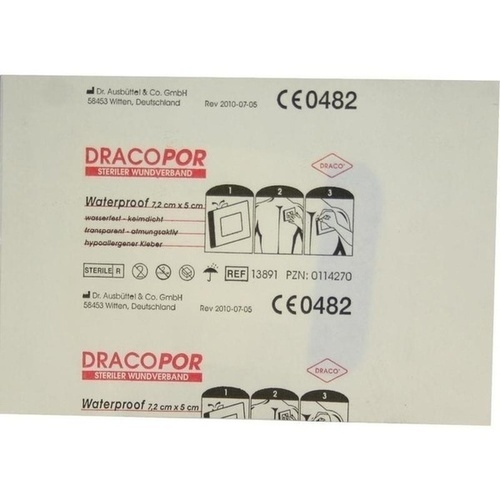 Dracopor Waterproof Wundverband steril 5cmx7.2cm, 1 ST, Dr. Ausbüttel & Co. GmbH