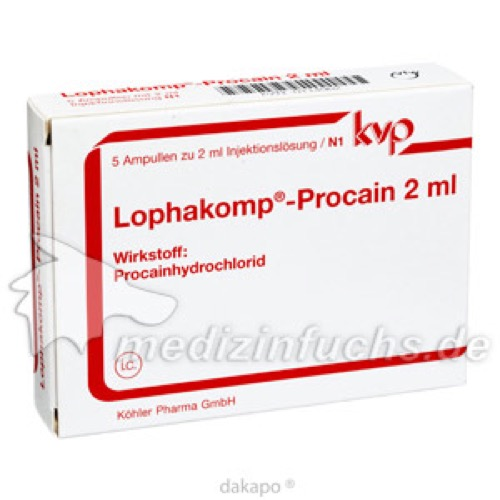 Lophakomp Procain 2ml, 5X2 ML, Köhler Pharma GmbH