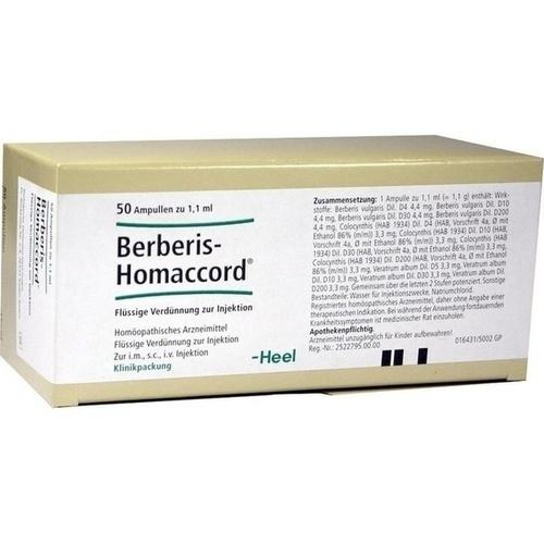 BERBERIS HOMACCORD, 50 ST, Biologische Heilmittel Heel GmbH