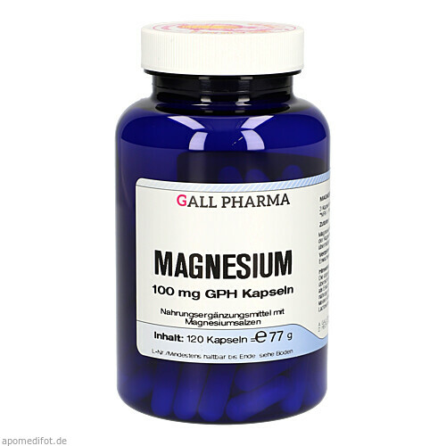 MAGNESIUM 100 mg Kapseln, 120 ST, Hecht-Pharma GmbH