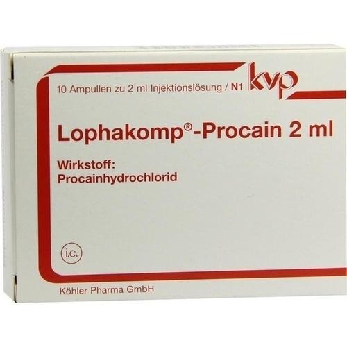 Lophakomp Procain 2ml, 10X2 ML, Köhler Pharma GmbH