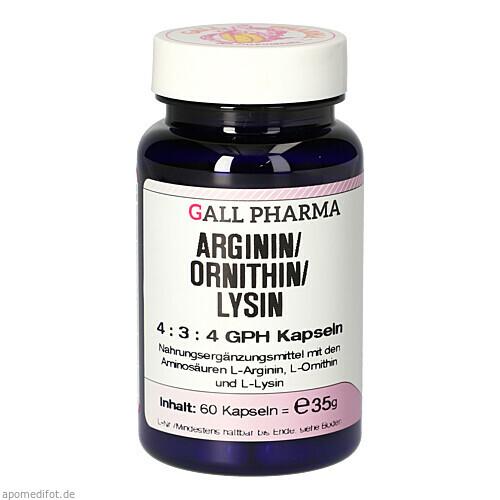 Arginin/Ornithin/Lysin 4:3:4 GPH Kapseln, 60 ST, Hecht-Pharma GmbH