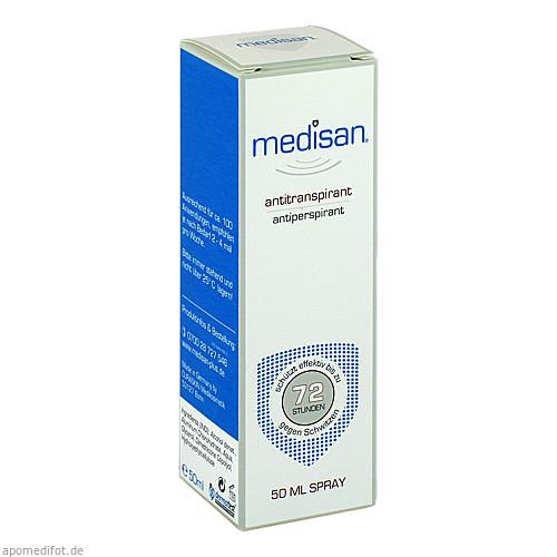 MEDISAN Plus Antitranspirant Deo Spray, 50 ML, Curaskin Medikosmetik
