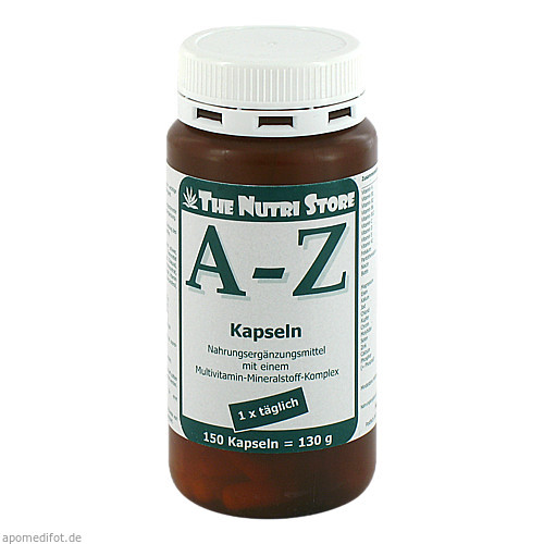 A-Z Multivitamin Mineralstoff Kapseln, 150 ST, Hirundo Products