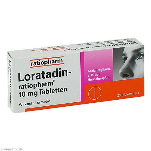 Loratadin-ratiopharm 10mg Tabletten, 20 ST, ratiopharm GmbH