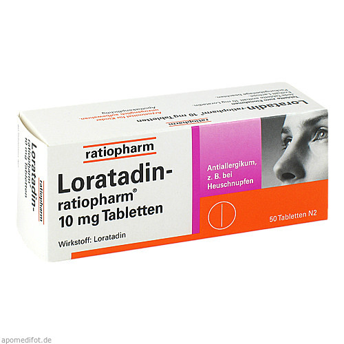 Loratadin-ratiopharm 10mg Tabletten, 50 ST, ratiopharm GmbH
