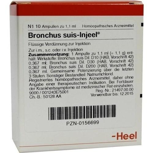 BRONCHUS SUIS INJ OR, 10 ST, Biologische Heilmittel Heel GmbH