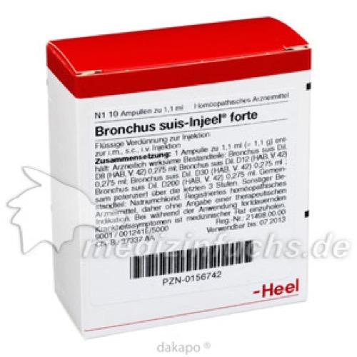 BRONCHUS SUIS INJ FORTE OR, 10 ST, Biologische Heilmittel Heel GmbH