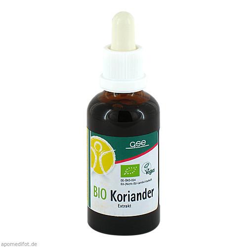 Koriander Extr. Bio 23% V/V, 50 ML, Gse Vertrieb Biologische Nahrungsergänzungs- & Heilmittel GmbH