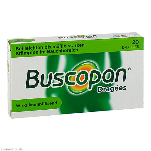 BUSCOPAN Dragees, 20 ST, Sanofi-Aventis Deutschland GmbH GB Selbs