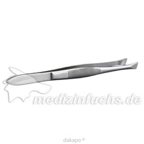 Pinzette Cilien schräg 9cm, 1 ST, Büttner-Frank GmbH