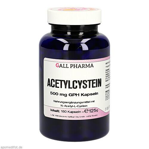 Acetylcystein 500mg GPH Kapseln, 180 ST, Hecht-Pharma GmbH