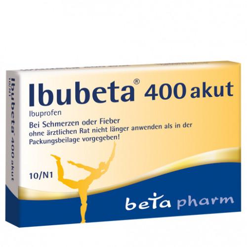 Ibubeta 400 akut, 10 ST, betapharm Arzneimittel GmbH