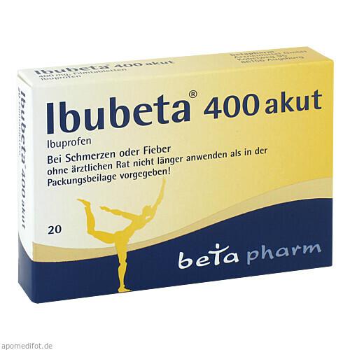 Ibubeta 400 akut, 20 ST, betapharm Arzneimittel GmbH