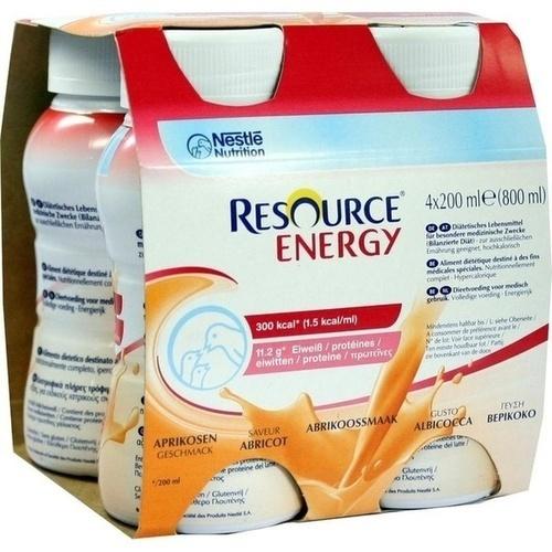 RESOURCE Energy Aprikose, 4X200 ML, Ghd Direkt Ii GmbH Vertriebslinie Nestle