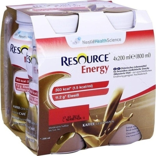 RESOURCE Energy Coffee, 4X200 ML, Ghd Direkt Ii GmbH Vertriebslinie Nestle