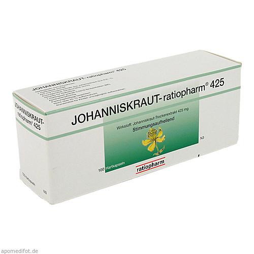 JOHANNISKRAUT-ratiopharm 425mg Hartkapseln, 100 ST, ratiopharm GmbH
