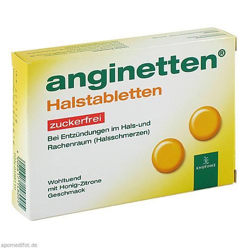 anginetten Halstabletten zuckerfrei, 24 ST, MCM Klosterfrau Vertriebsgesellschaft mbH
